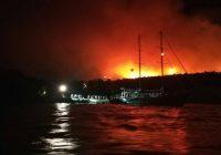 Σε εξέλιξη πυρκαγιά στην Αλόννησο: Εκκενώθηκε ξενοδοχείο